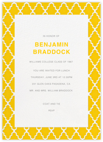 Marrakesh - Mustard - Paperless Post - Celebration invitations