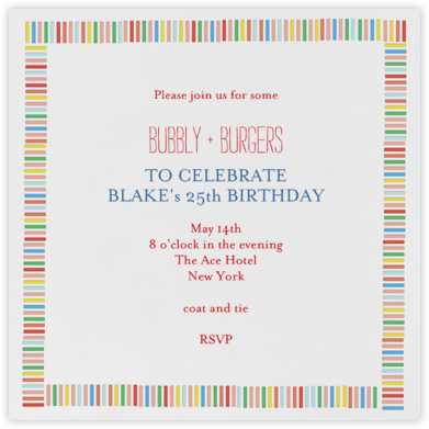 Mini Berlin - Brights - Mr. Boddington's Studio - Birthday invitations