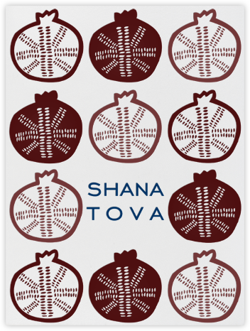 Modern Pomegranate - Paperless Post - Rosh Hashanah Cards