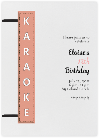 My Turn - Peach - Mr. Boddington's Studio - Adult Birthday Invitations