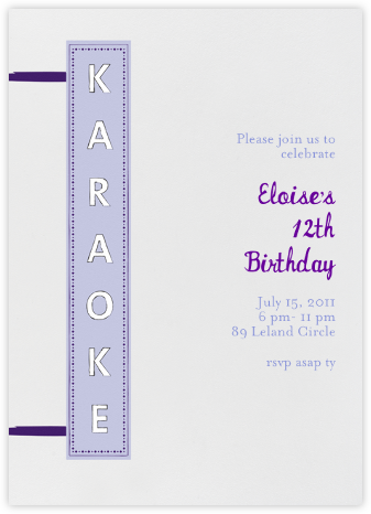 My Turn - Purple - Mr. Boddington's Studio - Kids' Birthday Invitations