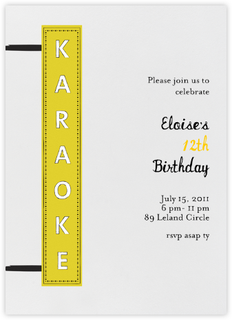 My Turn - Yellow - Mr. Boddington's Studio - Online Kids' Birthday Invitations
