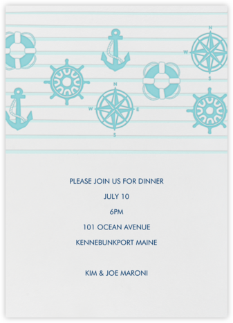 Nautical  - Linda and Harriett - Summer Entertaining Invitations