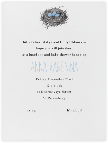 Nest (Blue) - Paperless Post - Baby Shower Invitations