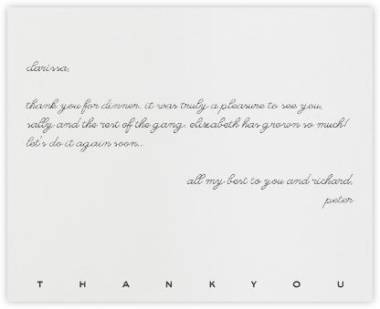 New Bond Street Thank You (Gray) - Paperless Post -
