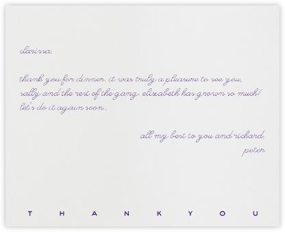 New Bond Street Thank You (Purple) - Paperless Post -