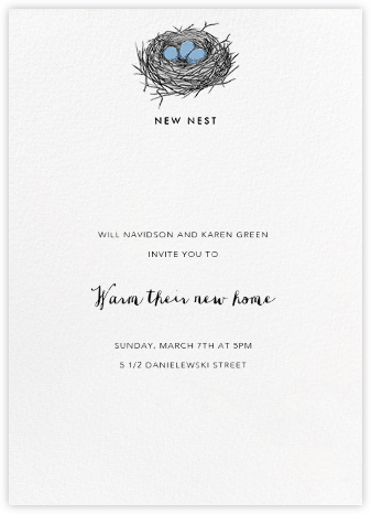 New Nest (Ivory) - Paperless Post - Housewarming party invitations