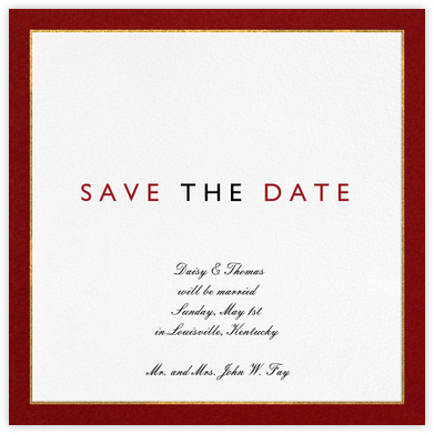 Oro - Red - Paperless Post - Save the dates