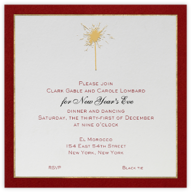 Oro (Red) - Paperless Post - New Year's Eve Invitations