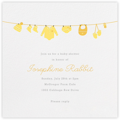 Onesie - Yellow - Paperless Post - Baby Shower Invitations