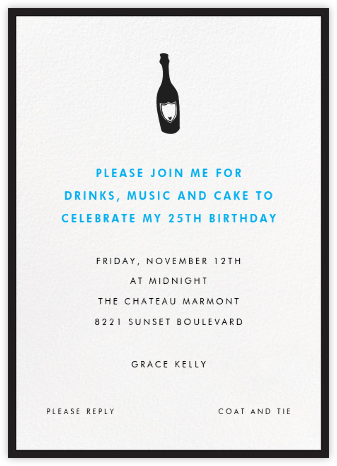 Contorno - Black - Paperless Post - Adult Birthday Invitations