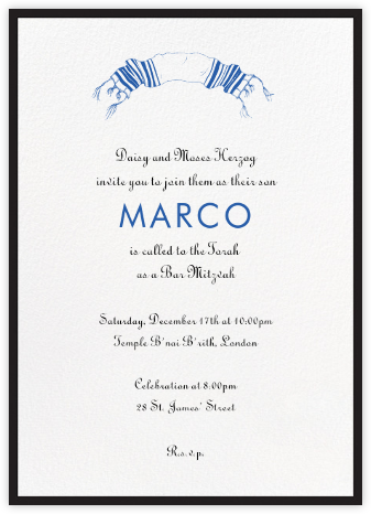 Contorno - Black - Paperless Post - Bat and Bar Mitzvah Invitations