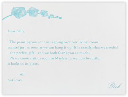 Orchid - Ivory with Caribbean (Thank You) - Paperless Post - Wedding thank you notes