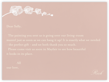 Orchid - Ivory with Rose (Thank You) - Paperless Post