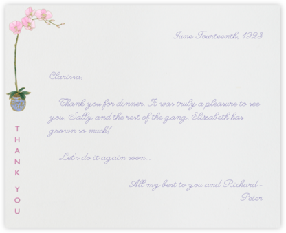 Orchid Thank You (Ivory) - Paperless Post - Online thank you notes