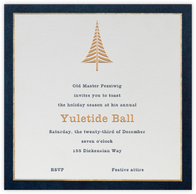 Oro (Blue) - Paperless Post - Holiday invitations