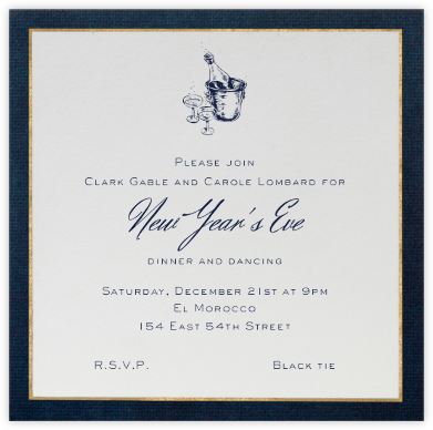Oro (Blue) - Paperless Post - New Year's Eve Invitations