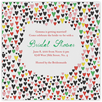 Our Giddy Bride - Black - Mr. Boddington's Studio - Bridal shower invitations
