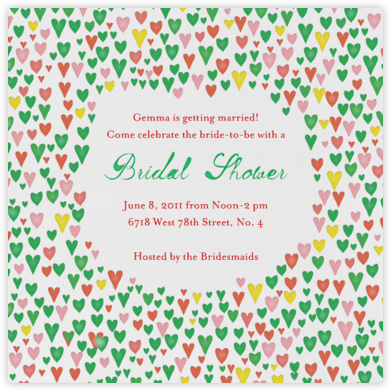 Our Giddy Bride - Lagoon - Mr. Boddington's Studio - Bridal shower invitations