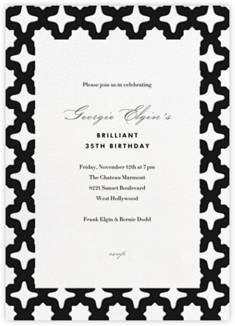 Palm Springs - Black - Paperless Post - Adult Birthday Invitations