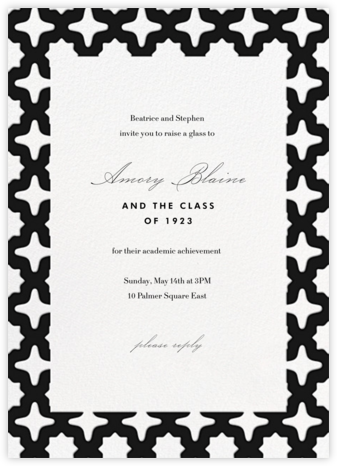 Palm Springs - Black - Paperless Post - Online Party Invitations