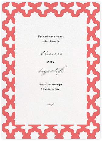 Palm Springs - Coral - Paperless Post - General Entertaining Invitations