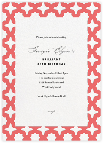 Palm Springs - Coral - Paperless Post - Adult birthday invitations