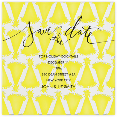 Party Hats (Save the Date) - Linda and Harriett - Party save the dates