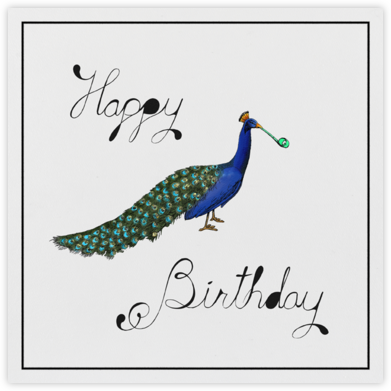 Peacock Birthday - Paperless Post - Birthday Cards