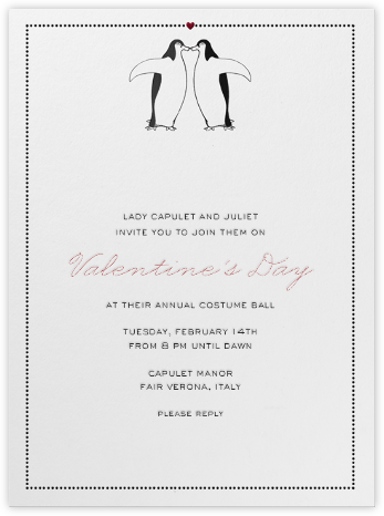 Penguin Love - Paperless Post - Online Party Invitations
