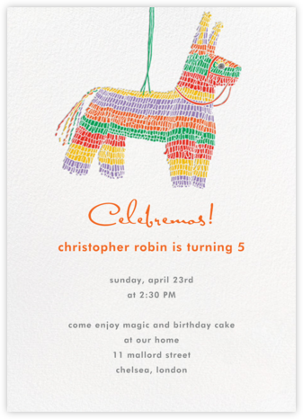 Pinata  - Paperless Post - Online Kids' Birthday Invitations