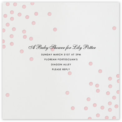 Pink Dots - Linda and Harriett - Baby shower invitations