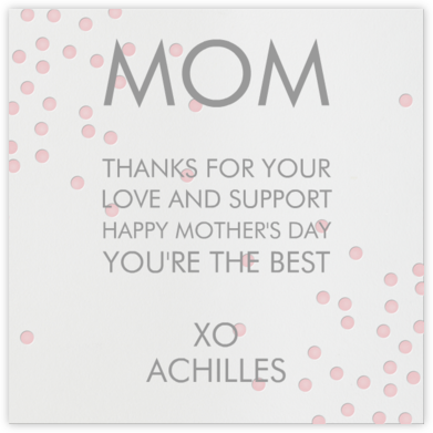 Pink Dots - Linda and Harriett - Mother's day cards