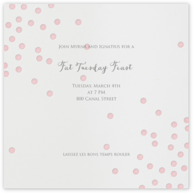 Pink Dots - Linda and Harriett - Mardi Gras invitations