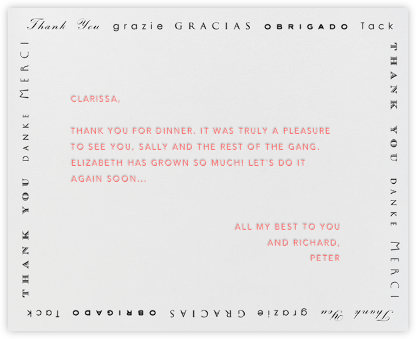 Polyglot Thanks (Black) - Paperless Post - General thank you notes