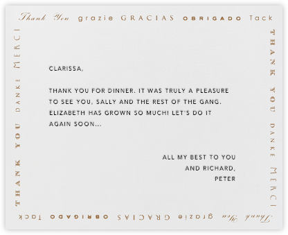Polyglot Thanks (DarkGold) - Paperless Post - Online greeting cards