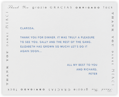 Polyglot Thanks (Gray) - Paperless Post - Online greeting cards