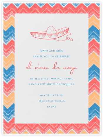 Poncho - Paperless Post - Cinco de Mayo Invitations