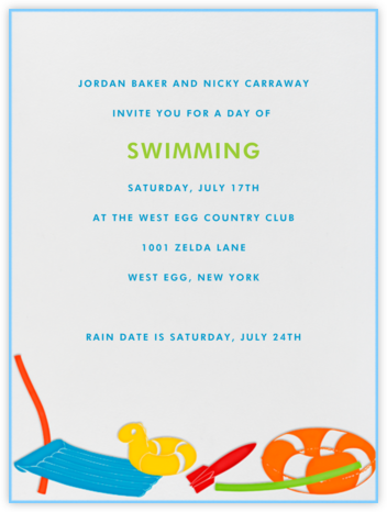 Pool Toys - Paperless Post - Summer Party Invitations