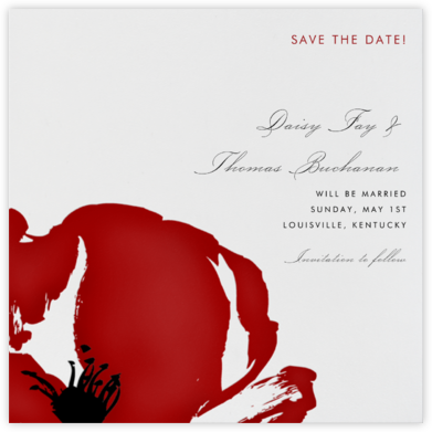 Poppies (Save the Date) - Crimson - Paperless Post -