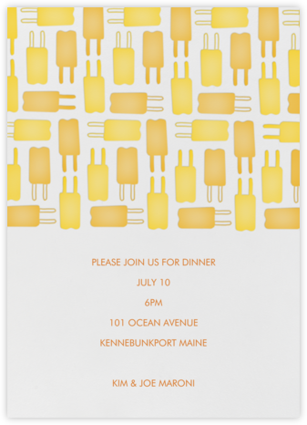 Popsicle Pattern - Yellows - Linda and Harriett - Summer Party Invitations