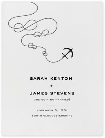 Port of Call - Ivory Black - Paperless Post - Save the dates