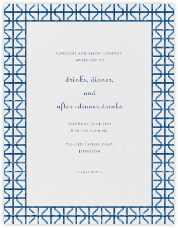 Rive Gauche - Blue - Paperless Post - Invitations