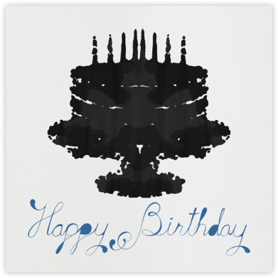 Rorschach Birthday Cake (Blue) - Paperless Post - Birthday Cards