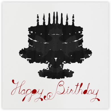 Rorschach Birthday Cake (Crimson) - Paperless Post - Birthday Cards