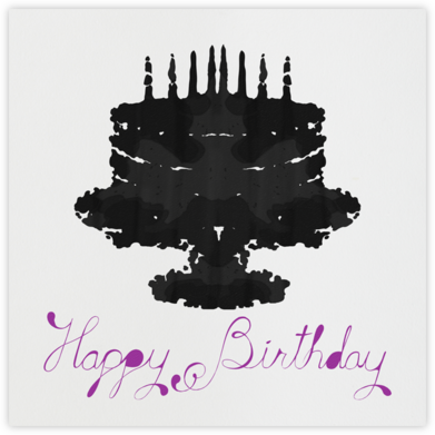 Rorschach Birthday Cake (Royal Purple) - Paperless Post - Birthday cards