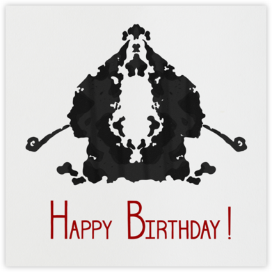 Rorschach Birthday Silhouette (Crimson) - Paperless Post - Birthday Cards