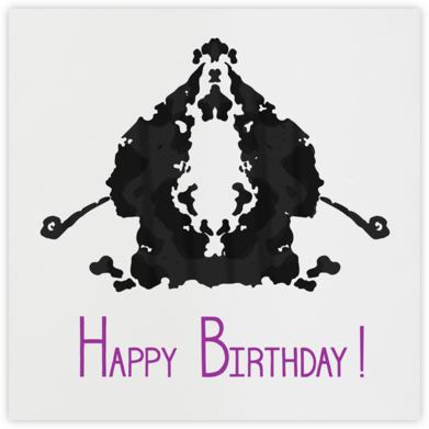 Rorschach Birthday Silhouette (Royal Purple) - Paperless Post - Birthday Cards