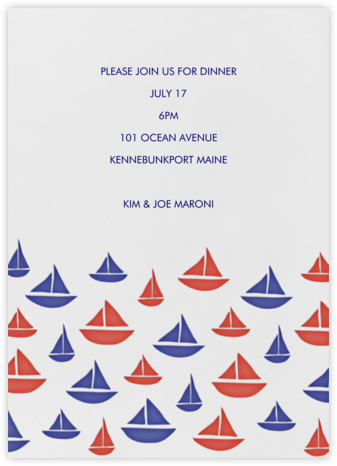 Sailboat Pattern - Linda and Harriett - Summer entertaining invitations