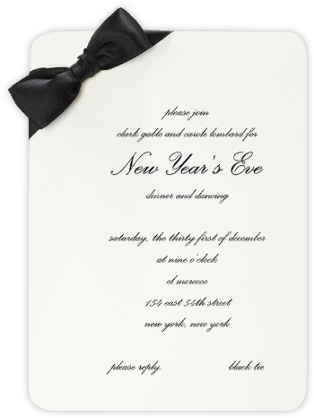 Saint Honore - Paperless Post - New Year's Eve Invitations
